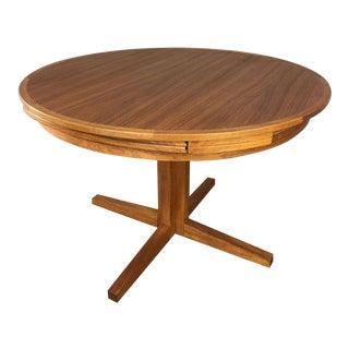 Dyrlund Teak Flip Flap Extension Dining Table