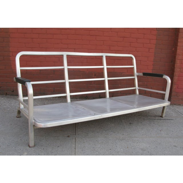 Rare 1945 Emeco Aluminum Us Navy Captain S Couch Chairish