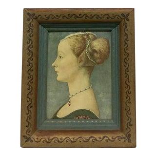 Antique Lady Mid Evil Era Framed Print