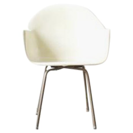 Mid-Century American White Chair - Image 1 of 5