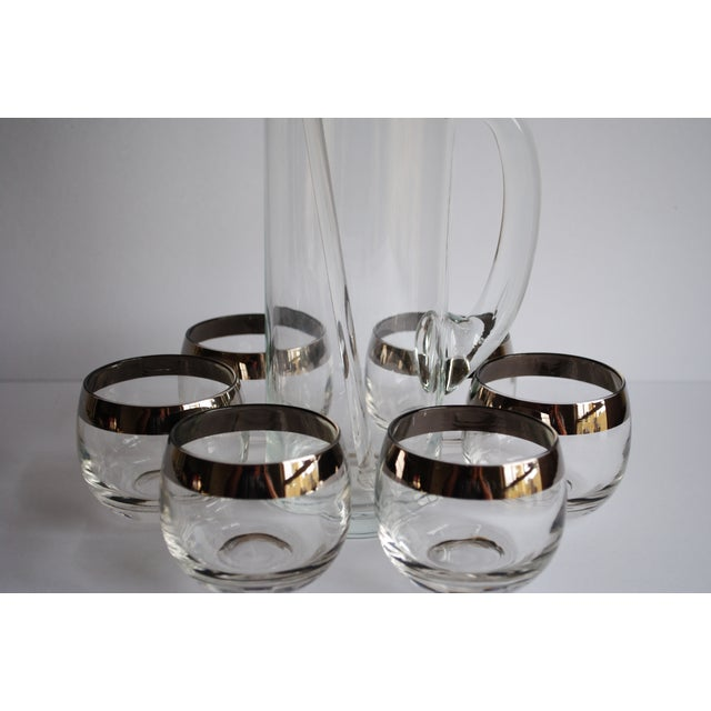 Image of Mid Century Silver Band Cocktail Set