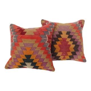 Turkish Kilim Cushions - a Pair