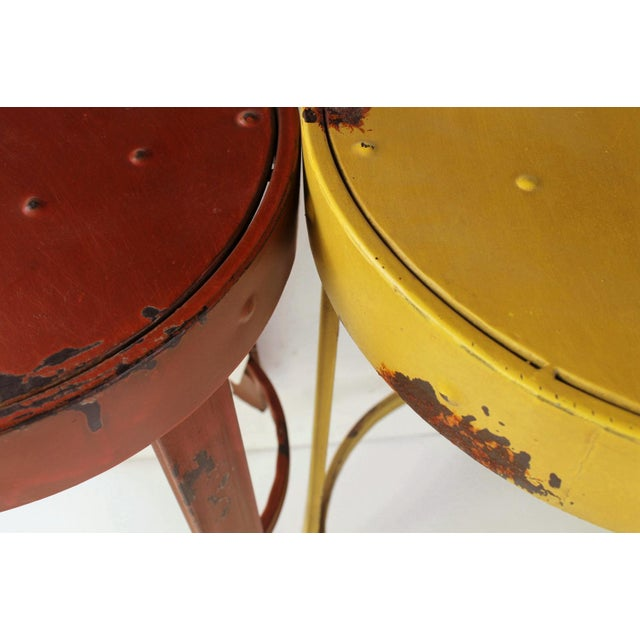 French Bistro Stools - A Pair - Image 5 of 5