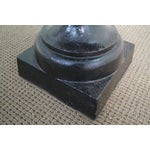 Image of Classic French Style Black Cast Iron Urns (A)