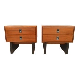 Pair of Mid-Century Modern Teak Night Stands