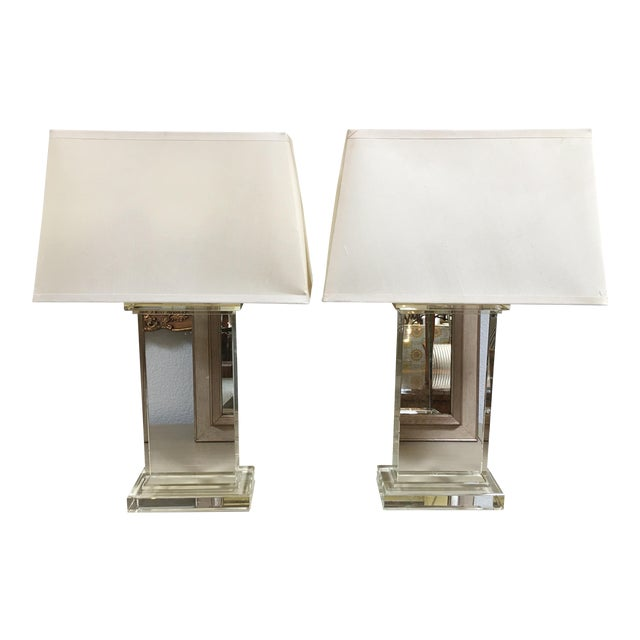 Restoration Hardware Crystal Pair Table Lamps