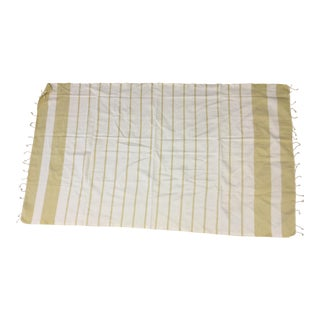 Turkish Mustard Striped Bath Towel