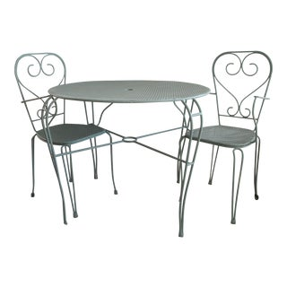 Mid-Century Modern Cafe Table & Chairs - Set of 3