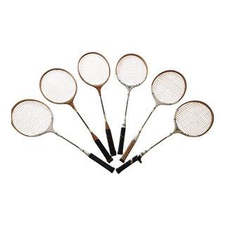 Vintage Tennis Rackets - Set of 6