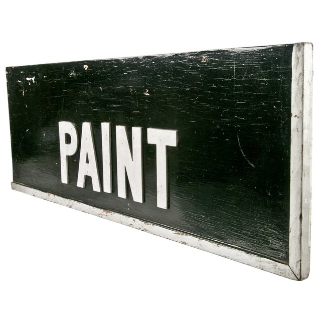 Wood Hardware Store Paint Sign - Image 2 of 2