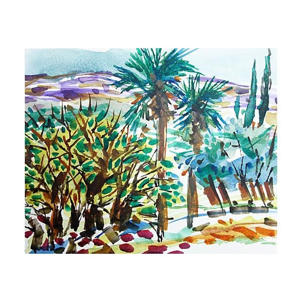Palm Trees & Hills by Barbara Winkler - Image 2 of 3