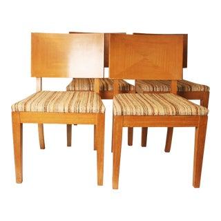 Mid-Century Modern Stewartstown Blonde Dining Chairs - Set of 4