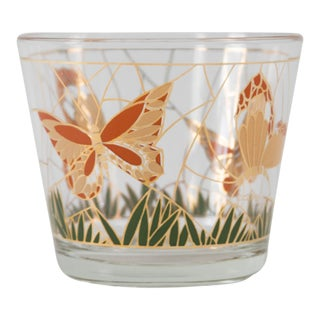 Culver Glass Butterfly Ice Bucket