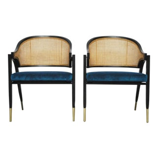 Pair of Captain Armchairs by Edward Wormley for Dunbar