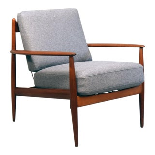 Grete Jalk France & Daverkosen Teak & Wool Lounge Chair