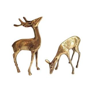 Brass Deer - a Pair