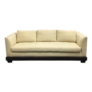 Custom Textured Cream Fabric Sofa