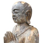 Image of Antique Wooden Monk Statue