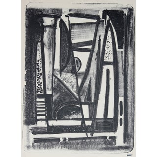 Monochromatic Mid Century Lithograph