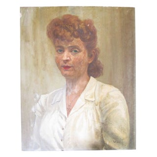 1940'S Portrait Of Red Haired Woman With Freckles