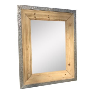 Pine & Metal Framed Mirror