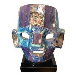 Vintage Semi-Precious Stones Mayan Mask