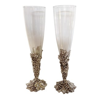 Arthur Court Champagne Glasses & Box - A Pair