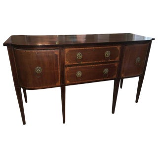 Stately English 19th Century Bow Front Sideboard