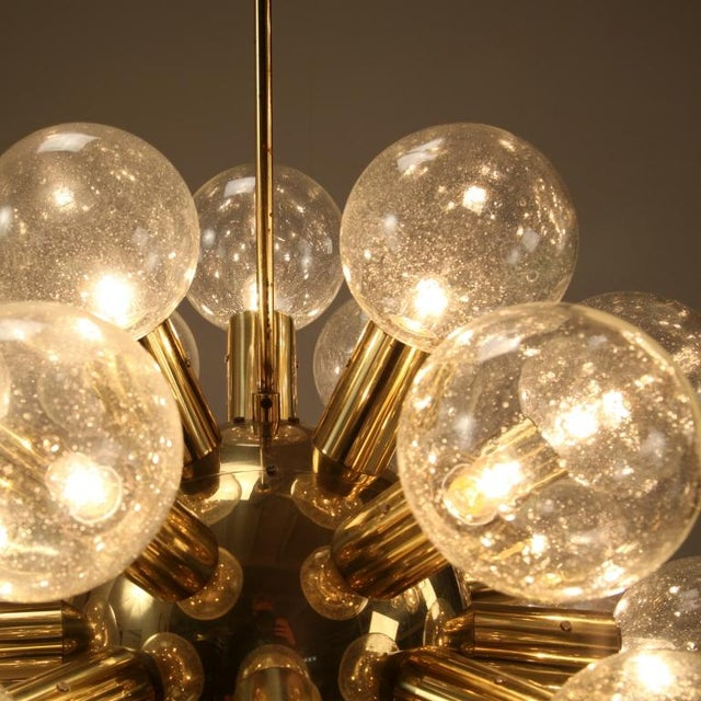 Several Robert Haussmann Brass Sputnik Pendants Holding Twenty Eight Bulbs - Image 7 of 10
