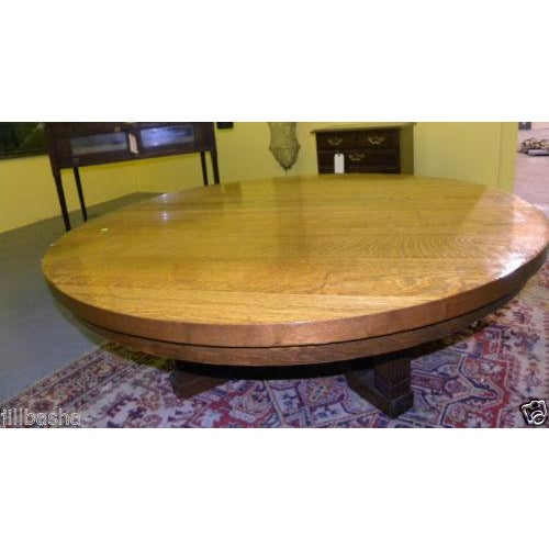 Vintage arts and crafts style oak coffee table chairish for Arts and crafts style table