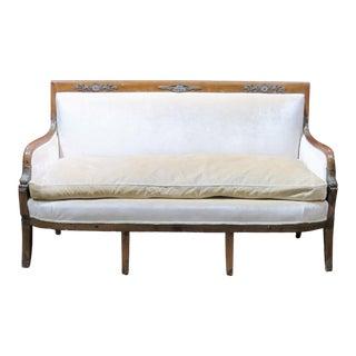 Regency Style Upholstered Sofa