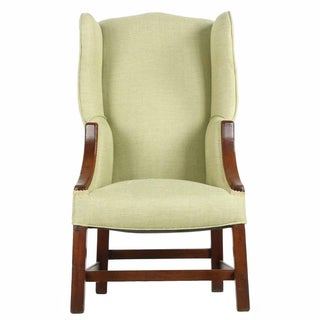 19th Century Antique English George III Diminutive Wingback Arm Chair