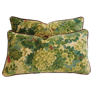 Designer Scalamandre Velvet Marly Pillows - A Pair