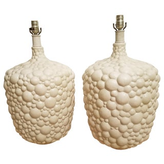 1970s Ivory Bubble Lamps- A Pair