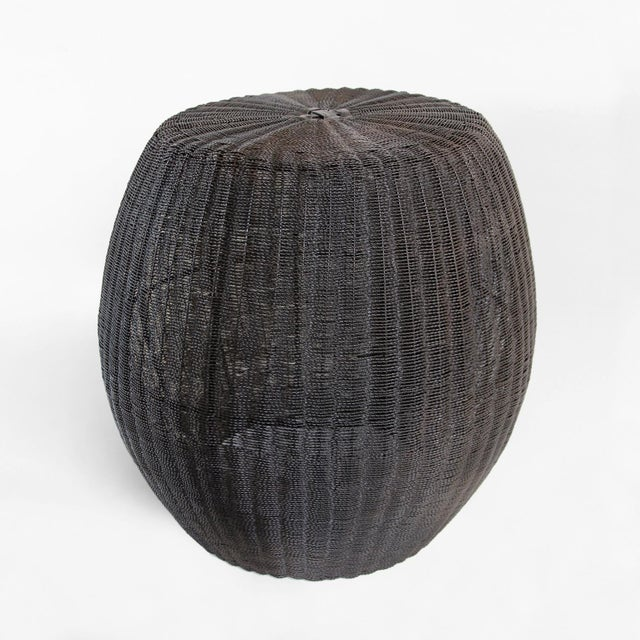 Blackened Wire Barrel Stool - Image 2 of 3
