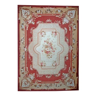 "Pasargad Aubusson Hand Woven Wool Rug - 13' 0"" x 17'11"""