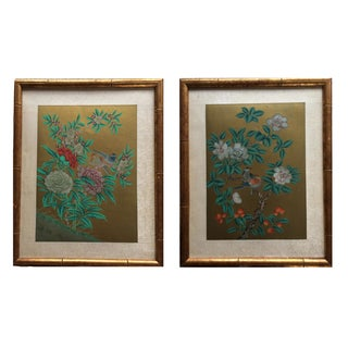 Vintage Hand Painted Chinese Panels