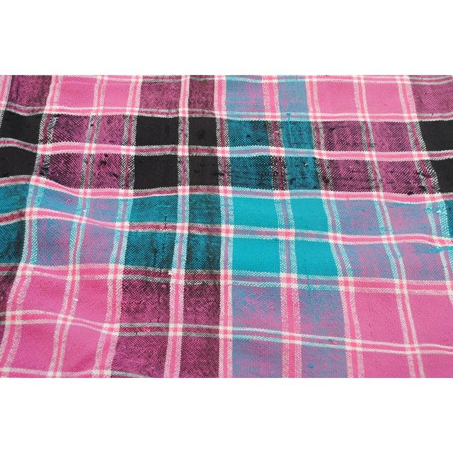 Vintage Moroccan Cotton Blanket - Image 4 of 6