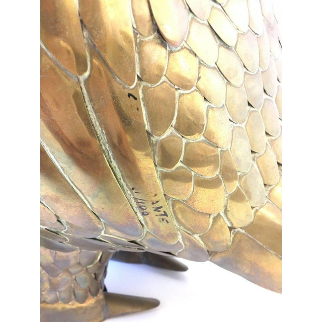 Large Brass Bird Sculpture by Sergio Bustamante - Image 5 of 8
