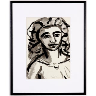 Black and Grey Portrait of a Girl by Drury Pifer