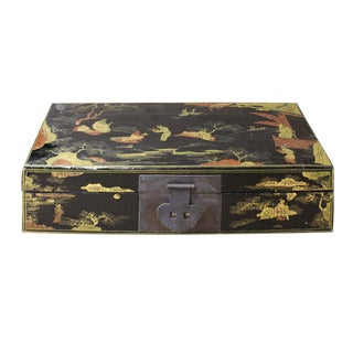 Chinese Lacquered Black Box