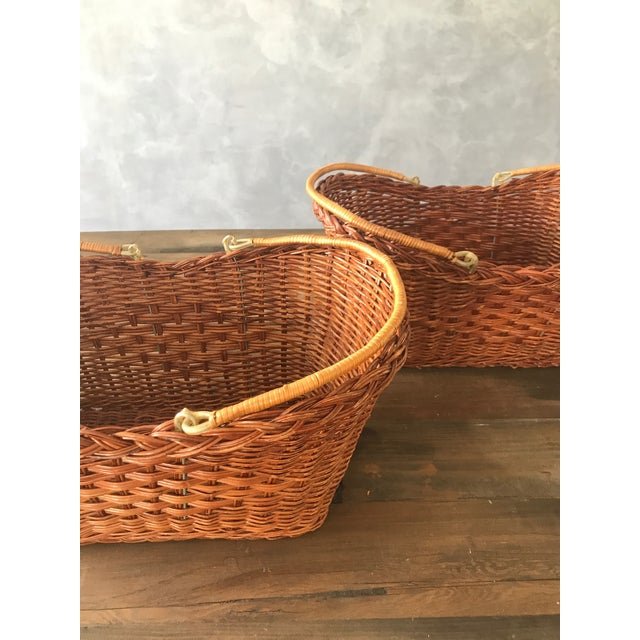 Rattan Carrying Baskets - A Pair - Image 3 of 7