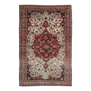 """Hand Knotted Antique Farhan Rug -- 6'8"""" X 4'5"""""""