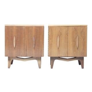 Mid-Century Walnut End Tables - A Pair