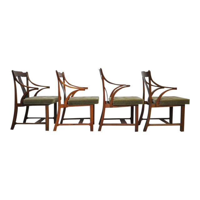 "Dunbar Set of Four ""Greene & Greene"" Chairs by Edward Wormley - Image 1 of 7"