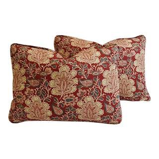 "Custom French Nicholas Herbert Feather/Down Pillows 22"" X 16"" - Pair"