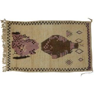 Vintage Berber Moroccan Rug, 5'3x8'7