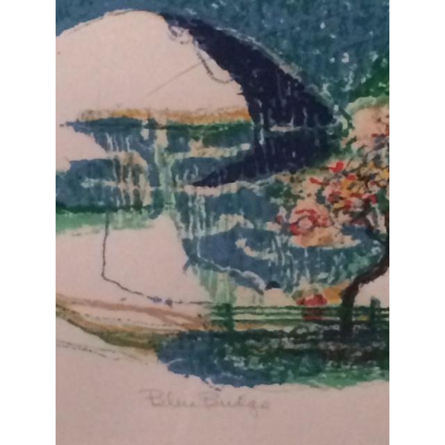 "Ronald Christensen ""Blue Bridge"" Lithograph - Image 4 of 8"