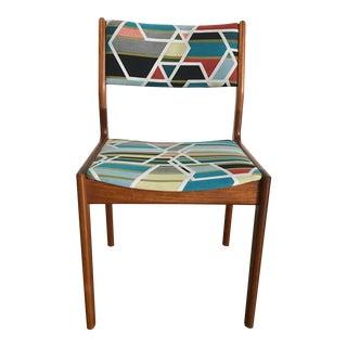 Mid-Century Geometric Teak Accent Chair