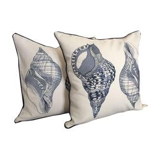 Nautical Conch Pillows - a Pair